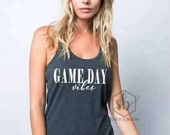 Game Day Vibes Shirt| Game Day Tank top | Baseball shirt | Football First | Soccer | Rugby | Moms shirts | Customize