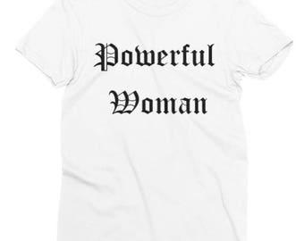 "White ""Powerful Woman"" T-Shirt"