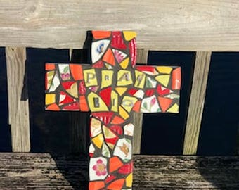 Pray Big! Mosaic Cross