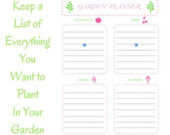 Garden Planner, What Do You Want to Grow?