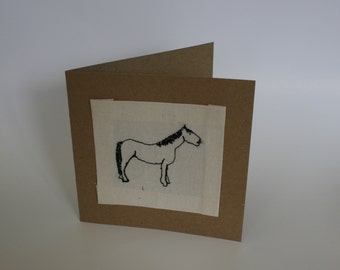 Mahine Embroidered Horse Card