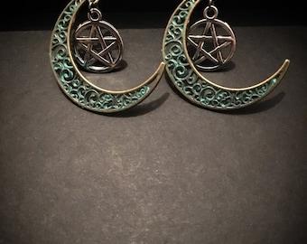 Luna Pentacle Earrings