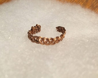 Copper wire braided ring