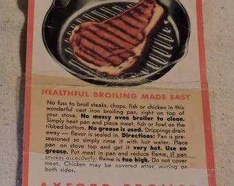 Original Axford Broiler Hang Tag