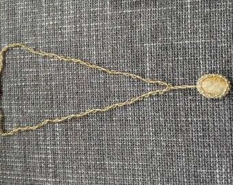 Necklace/Pendant Coral Jasper 32cm
