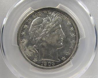 1903 O Barber Half Dollar PCGS AU58 Certified Coin