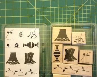 Stampin'Up Flower Filled Rubber Stamp Set