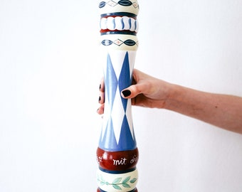 Vintage folklore chic pepper mill