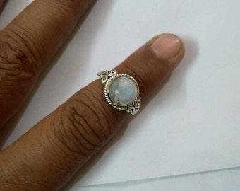 Rainbow moonstone ring, silver ring, sterling silver ring, moonstone ring, 925 sterling silver ring
