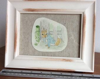 Peter Rabbit framed watercolour