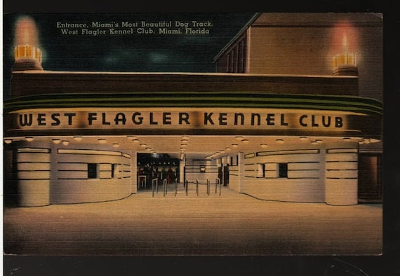 West Flagler Kennel Club – Miami, Florida – Vintage Technor Quality Views Postcard