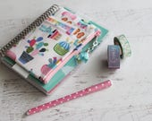 Planner pouch with elastic - mini happy planner cover - cactus bag - pencil pouch - planner bag - franken planner holder