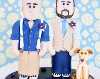 Homosexual Cake toppers.  Custom same sex cake toppers.  Groom and Groom Toppers.  Bride and Bride Cake topper.  Personalized Gay Toppers