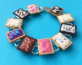 Pop Tart Bracelet - polymer clay miniature food jewelry