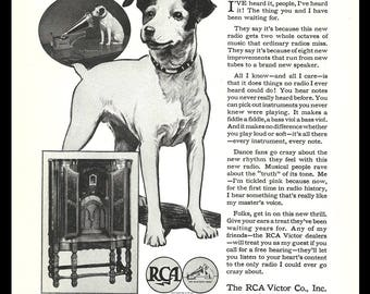 RCA  Pup 1932 AD RCA Victor Bi-Acoustic Radio Photo Print Ad