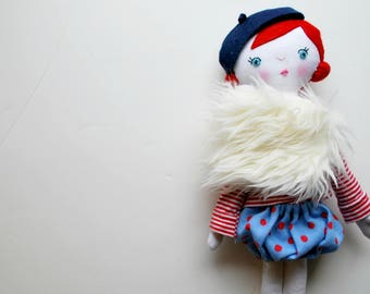 Parisian Dress Up Red Hair Doll - French - Dolly - with clothing - Ginger - Beautiful - Set - Heirloom - Doll Clothes - Wardrobe - Modern