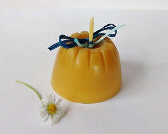 Pure Beeswax Jelly-mould Candle / Handmade Candles / Candle Gift / Natural Eco Candle