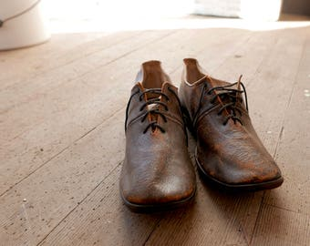 Antique Late Victorian Lace Up Shoes