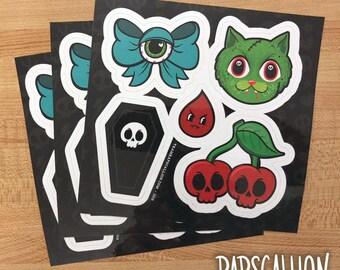 Creepy Cute Sticker Sheet