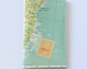 Small Bi-fold Wallet - Vintage Map & Vinyl
