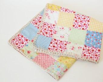 sale, quilt photo prop, newborn quilt layer, newborn photo props, baby quilt, floral vintage style quilt layer, newborn girl props
