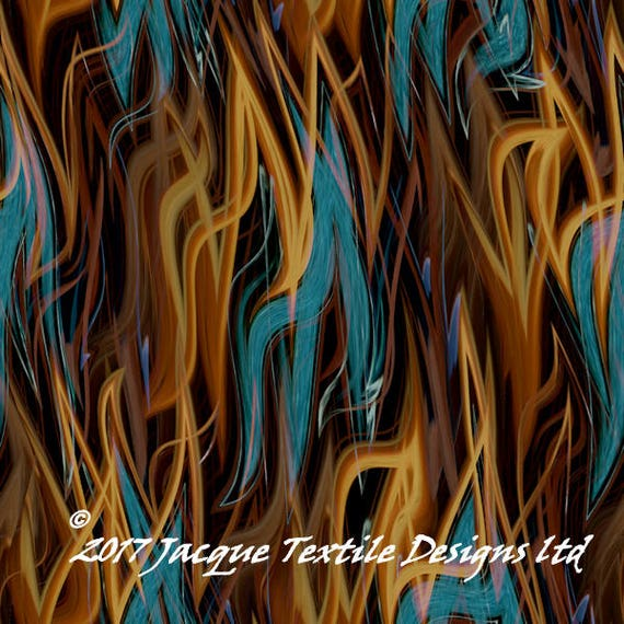 Teal Brown Strands UNIQUE Handmade Velvet Upholstery Fabric Shimmer Fiber Art Fabric