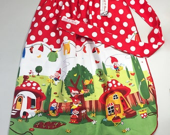 Skirt Apron - Vintage Pin Up Style - Elves