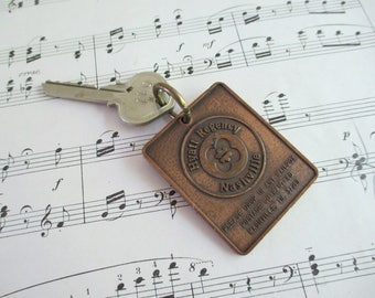 Vintage Hotel Fob and Key - Hyatt Regency Nashville