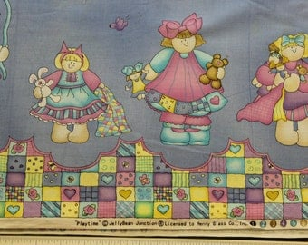 """Daisy Kingdom Playtime Jelly Bean Junction Dress skirt fabric .100% cotton 42""""-44"""" wide  lic Henry Glass"""