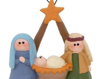 Holy Family with Star Ornament, 2 1/4 inches