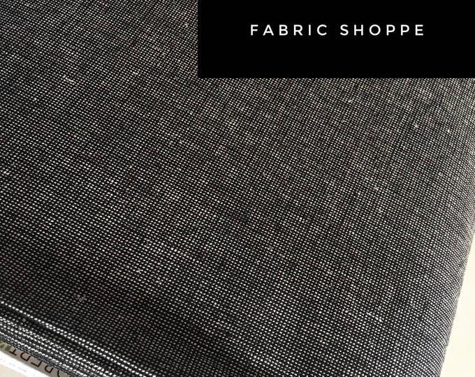Essex Linen Homespun, Linen Blend fabric, Essex Yarn Dyed, Apparel Fabric, Dress fabric, Yarn Dyed fabric, Essex Homespun in Pepper