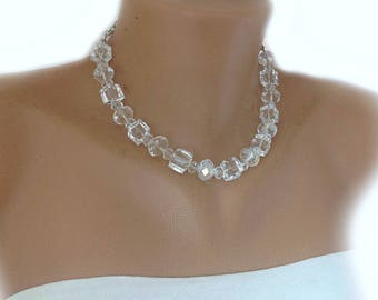 Swarovski Crystal Choker, Geometric Bridal Jewelry