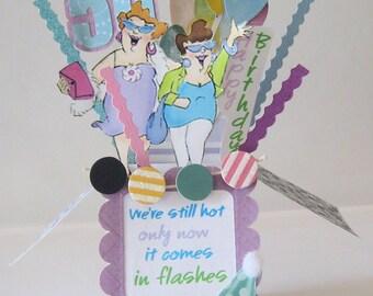 50th Birthday Card - Pop Up Card - Box Card - Milestone birthday