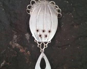 Marjorie Baer Brooch, Vintage Brooch, MB SF Brooch, Modern Brooch, Sculptural Brooch, Artisan Brooch, M Baer Jewelry Active