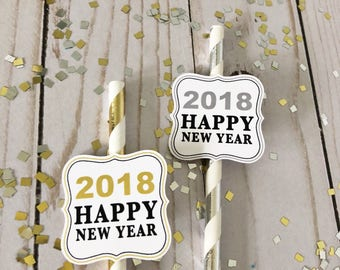 Happy New Year Medallions - Instant Download