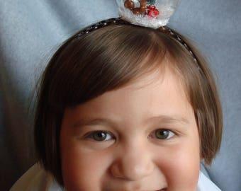 Snowglobe Headband Squirrel Headband Hair Accessory Snow Holiday Hair Band Fascinator Christmas Tree Snow Winter Headband Girl Gift Presents