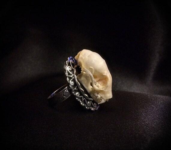 real bat ring bat skull ring bat jewelry jewelry