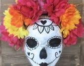 Pretty Dead in Pink Día de los Muertos Crown — Ready to ship