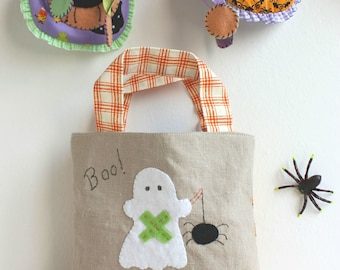 Trick or treat bag ghost spider boo