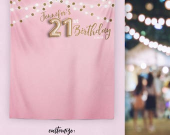 21st Birthday Decorations Banner Finally 21 Decor