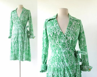 DvF Wrap Dress | 70s Wrap Dress | Diane Von Furstenberg Dress | Small S