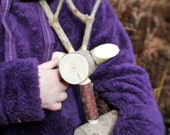Small LOG DEER - Fawn - Rustic Deer - Baby Deer - Reindeer - Deer - decoration - ornament - visual merchandise - gift - present - Christmas