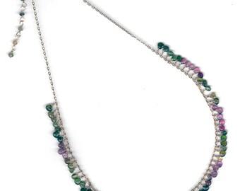 Beautiful Delicate Teardrop Tourmaline necklace