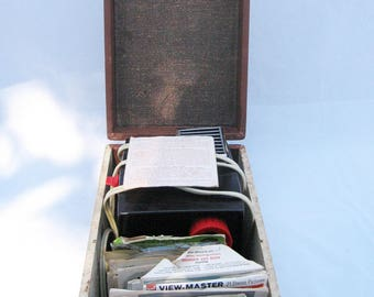 Vintage View Master projector and reels - 1950s-1960s