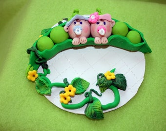Twin Two Peas in a Pod Cake Topper, Baby Shower Peas in a Pod Cake Topper Gift, Baby Shower Peas in A Pod Twin Topper, Baby  Birthday