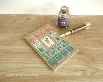Maryland State Bird & Flower Journal - Vintage USA Stamp Album Notebook