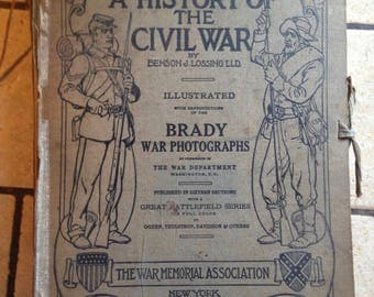 1912 A History of the Civil War COMPLETE Brady Photograph Book Set