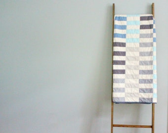 Custom Made-to-Order Bed, Throw, or Baby Quilt - Stacked Stripes Design, Colors of Your Choosing