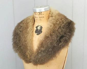 SALE Silky Genuine Fur Collar / 1970s boho