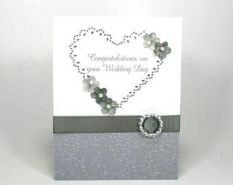 Wedding card, Wedding day card, For the bride, For the groom, Congratulations wedding, Handmade Wedding cards